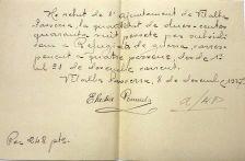 Únic document que s'ha trobat a Vilalba conforme els regugiats havien cobrat un subsidi